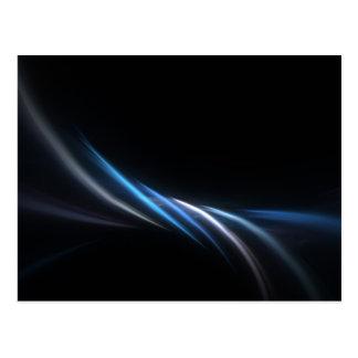 Blue Fractal Plasma Background Postcard