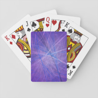 Blue fractal playing cards