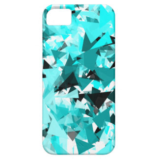 Blue fractal Shatter Ice iPhone 5 Cover