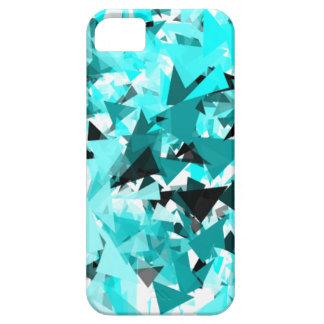 Blue fractal Shatter Ice iPhone SE/5/5s Case