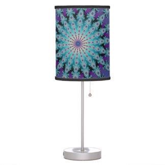 Blue Fractal Star Lamp