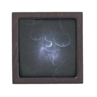 blue fractals 3D Caja De Joyas De Calidad