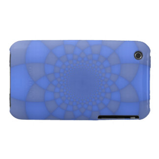 Blue fractals iPhone 3 cover