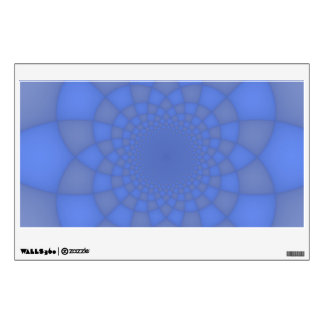 Blue fractals wall stickers