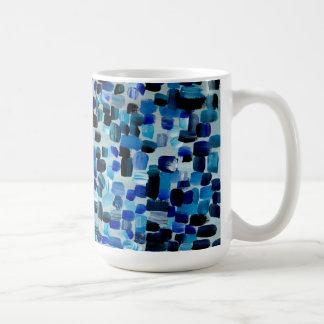 Blue Fractions of Light Coffee Mug