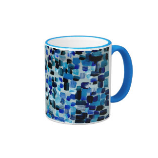 Blue Fractions of Light Ringer Mug