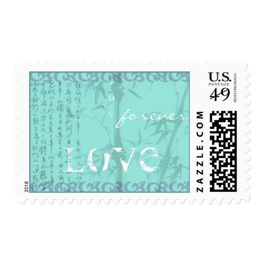 Blue Frame Love Grunge postage