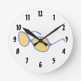 blue frame orange lens beach glasses.png round clock