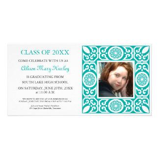 Blue Frame - Photo Graduation Party Invites