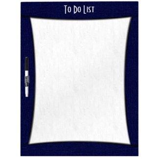 Blue Frame To Do List Dry Erase Board w Pen