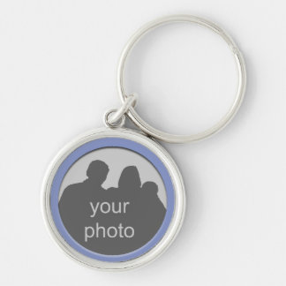 Blue Frame Your Photo Premium Keychain 4
