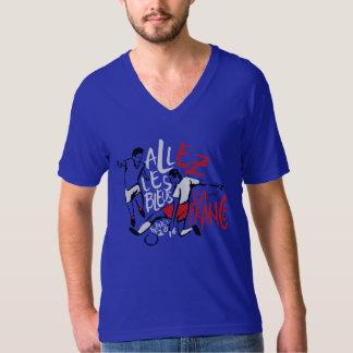 Blue France V-neck T-shirt