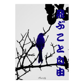 Blue free to fly poster