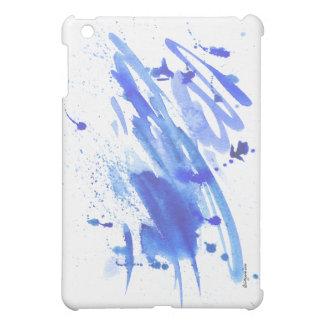 Blue Freedom Splash Watercolor IPad Case