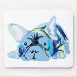 Blue French Bulldog Alfombrilla De Ratón
