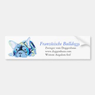 Blue French Bulldog Bumper Sticker