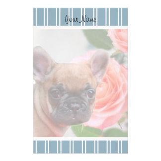 Blue French Bulldog puppy stationary Stationery