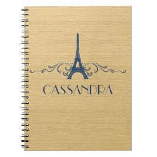 Blue French Flourish Notebook