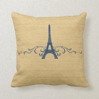 Blue French Flourish Pillow