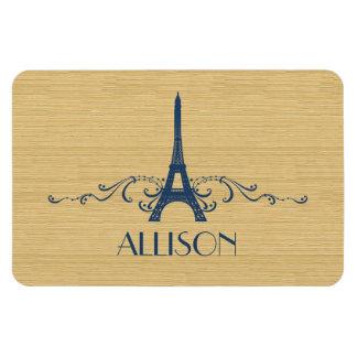 Blue French Flourish Premium Magnet