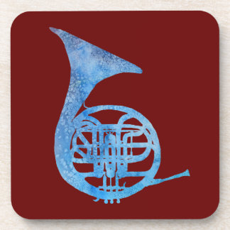 Blue French Horn Coaster