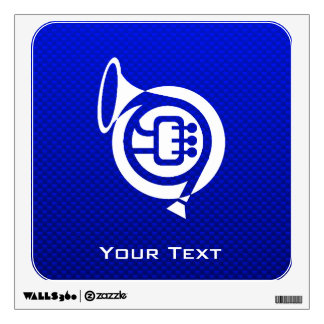 Blue French Horn Room Decals
