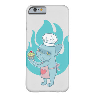 Blue Frenchie and his magical love cupcake Barely There iPhone 6 Case