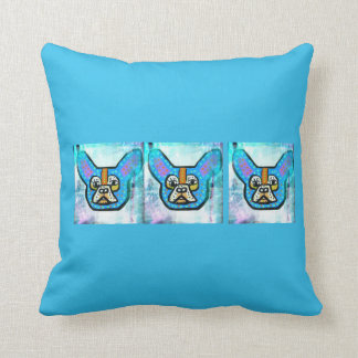 Blue Frenchie Pillow