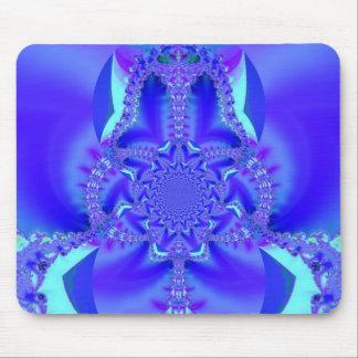 Blue Frenzy Fractal Art Mouse Pad