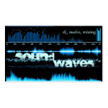blue frequency waves DJ/producer business card