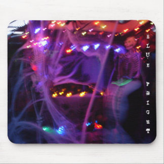 Blue Fright Mouse Pad