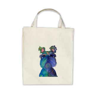 Blue Fritz Tote Bags