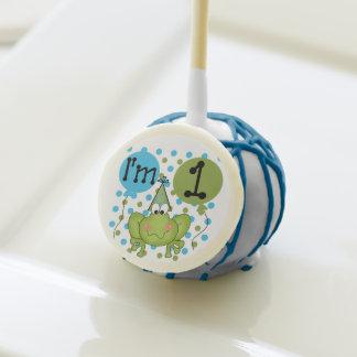 Blue Frog 1st Birthday Cake Pops