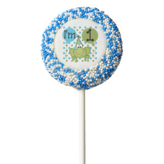 Blue Frog 1st Birthday Dipped Oreos and Pops