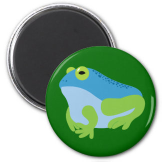 Blue Frog 2 Inch Round Magnet