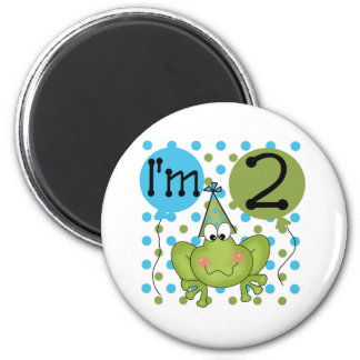 Blue Frog 2nd Birthday Magnet