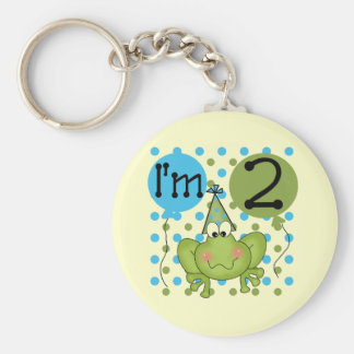Blue Frog 2nd Birthday Tshirts and Gifts Keychain