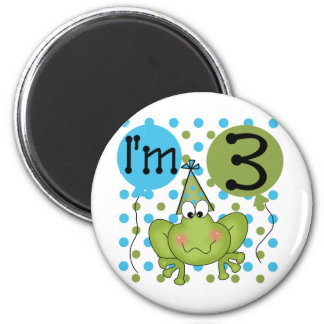 Blue Frog 3rd Birthday Tshirts and Gifts Magnet