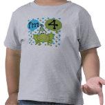 Blue Frog 4th Birthday Tee Shirt