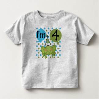 Blue Frog 4th Birthday Toddler T-shirt