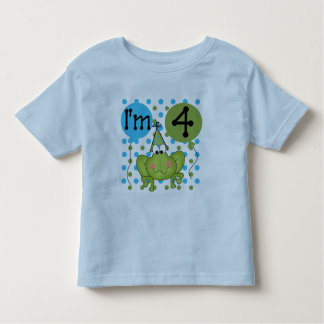 Blue Frog 4th Birthday Tshirts and Gifts