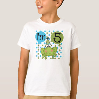 Blue Frog 5th Birthday T-Shirt