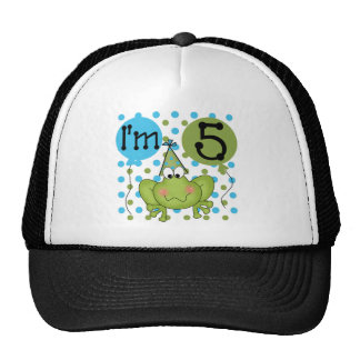 Blue Frog 5th Birthday Tshirts and Gifts Trucker Hat