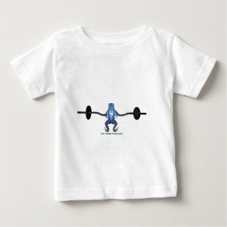 Blue Frog and Barbell Baby T-Shirt