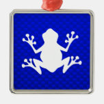 Blue Frog Christmas Tree Ornaments
