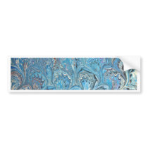 Blue Frog Feet Water Marbling Bumper Sticker