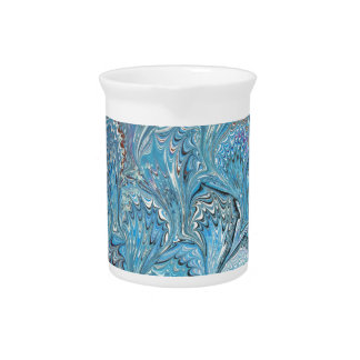 Blue Frog Feet Water Marbling Pitcher