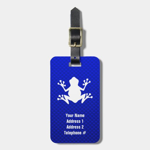 Blue Frog Luggage Tags