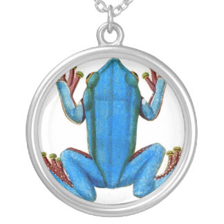 Blue Frog Vintage Costume Jewelry Charm