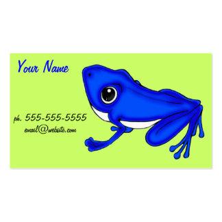 Blue Froggy business card design